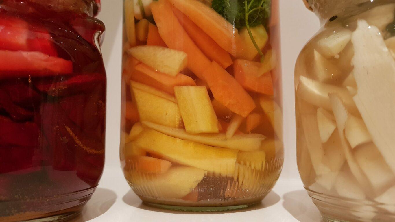 gefermenteerde groenten wortel rode biet pastinaak